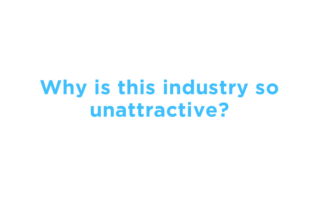 Why is this industry so unattractive?