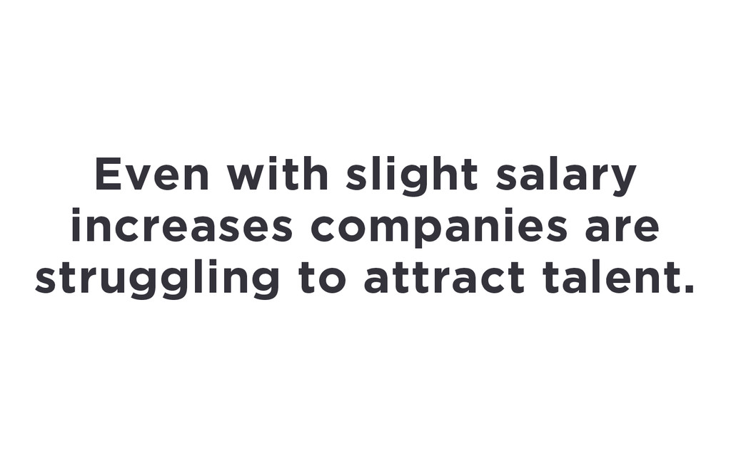 Even with slight salary increases companies are...