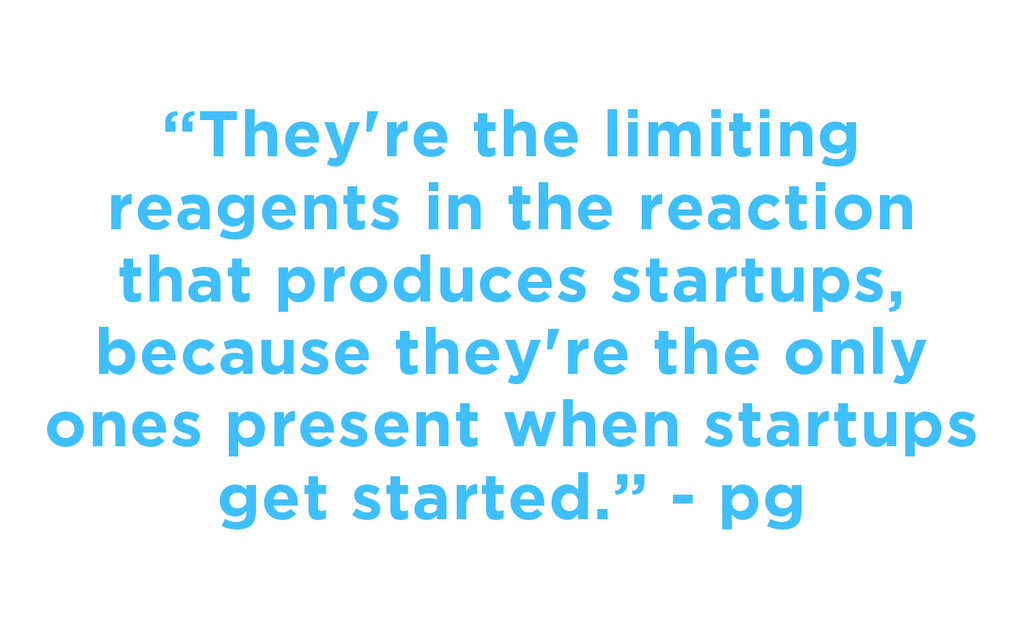 """""""They're the limiting reagents in the reaction ..."""