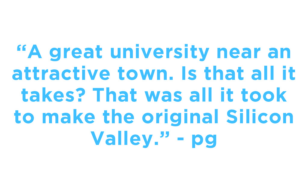 """""""A great university near an attractive town. Is..."""