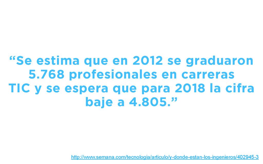 """""""Se estima que en 2012 se graduaron 5.768 profe..."""