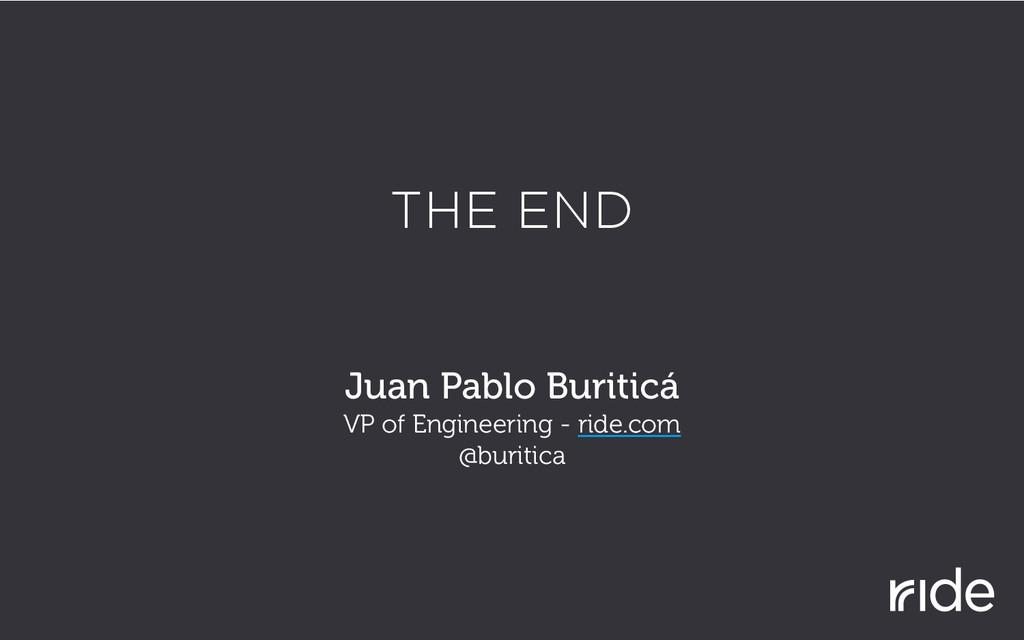 THE END Juan Pablo Buriticá VP of Engineering -...