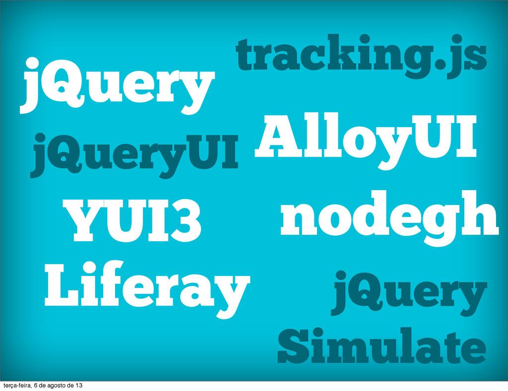 jQuery jQueryUI YUI3 Liferay tracking.js AlloyU...