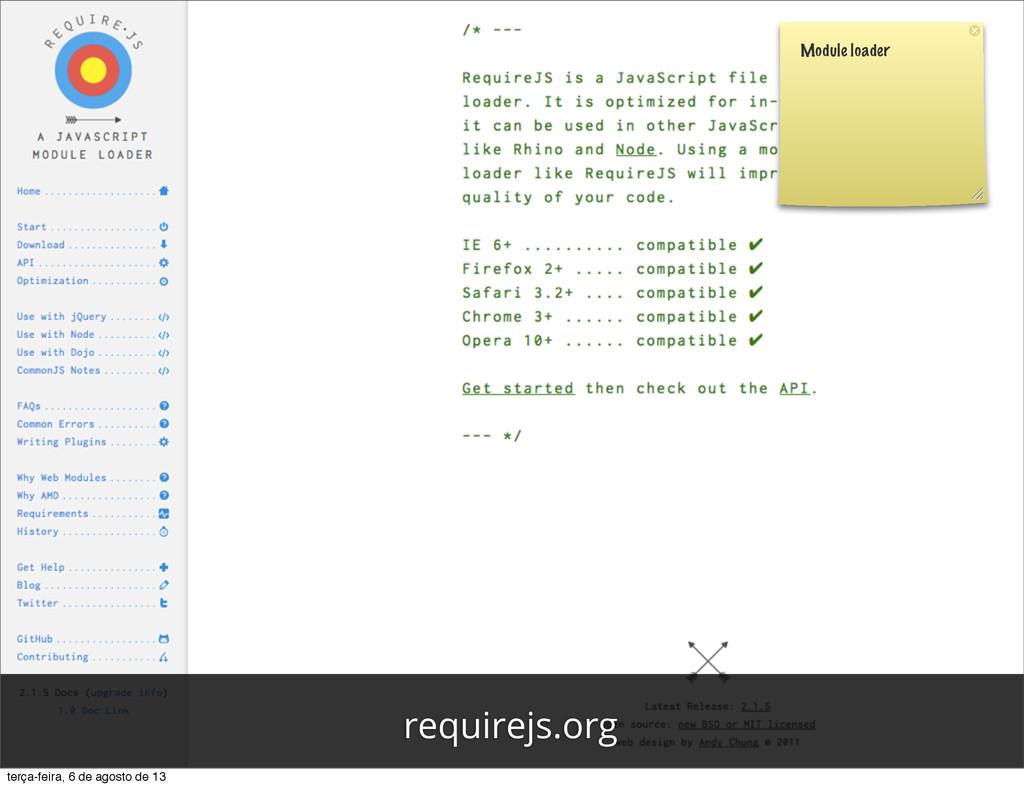 Module loader requirejs.org terça-feira, 6 de a...
