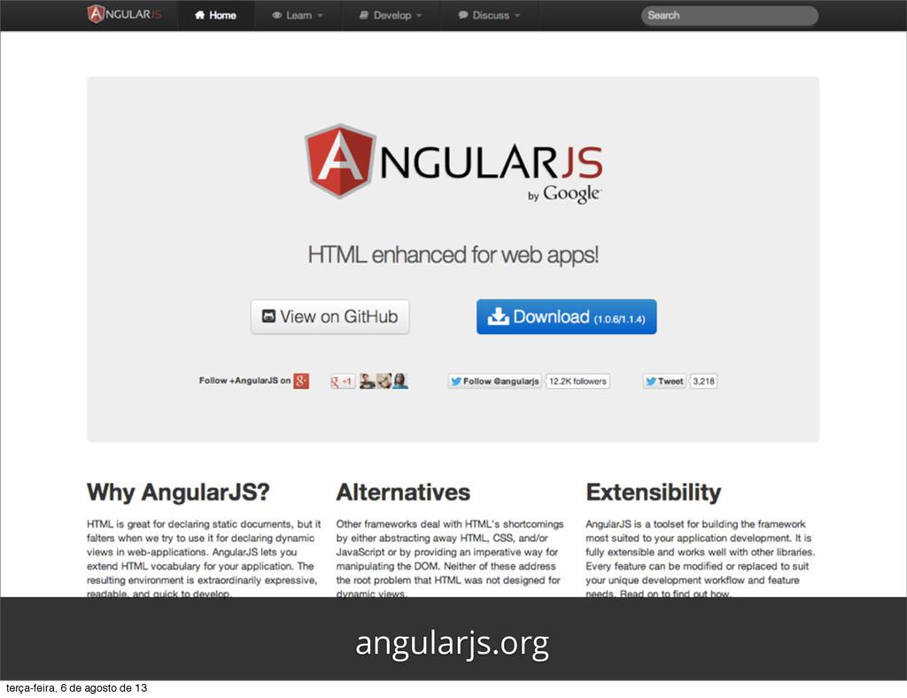 angularjs.org terça-feira, 6 de agosto de 13