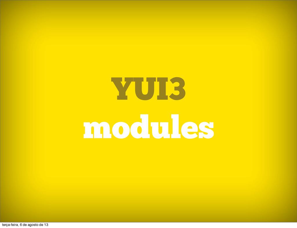 YUI3 modules terça-feira, 6 de agosto de 13