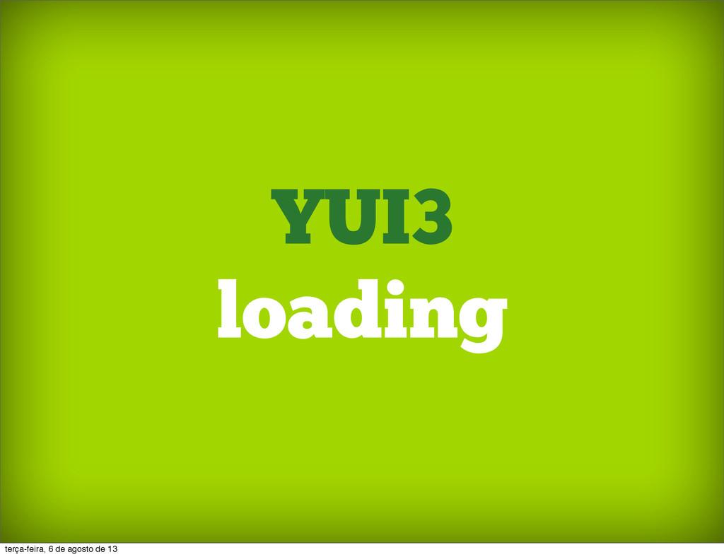 YUI3 loading terça-feira, 6 de agosto de 13