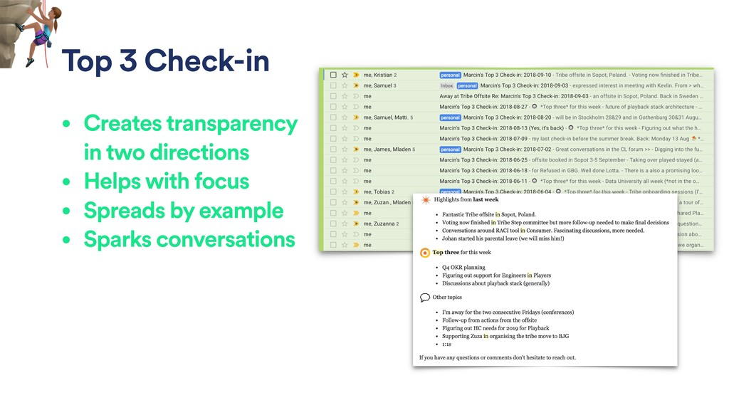 Top 3 Check-in • Creates transparency in two di...