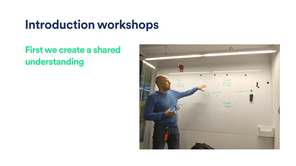 Introduction workshops First we create a shared...