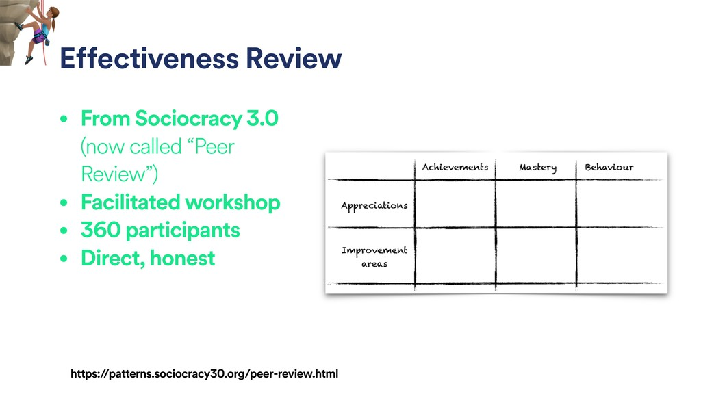 """• From Sociocracy 3.0 (now called """"Peer Review""""..."""