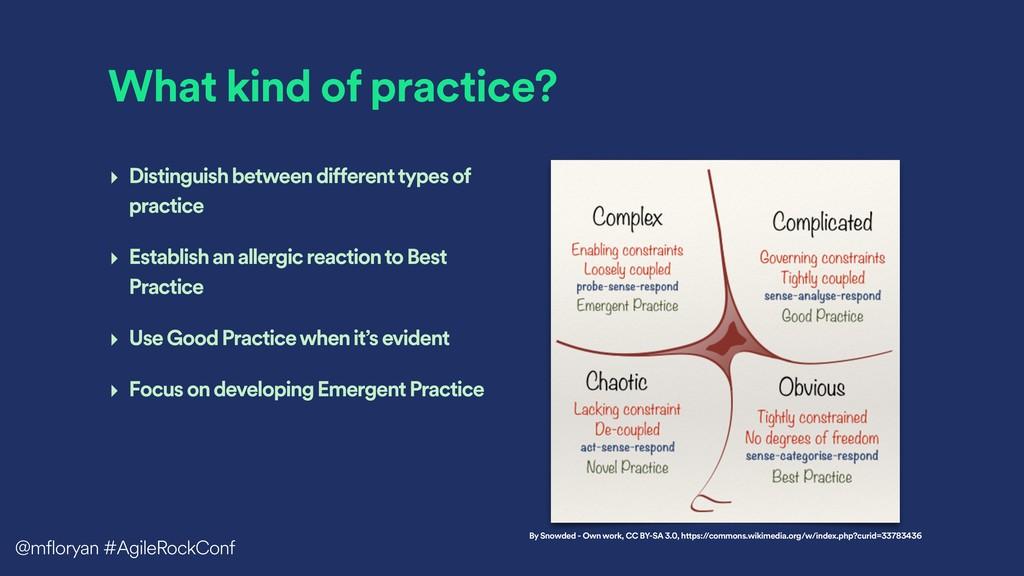 What kind of practice? ‣ Distinguish between di...