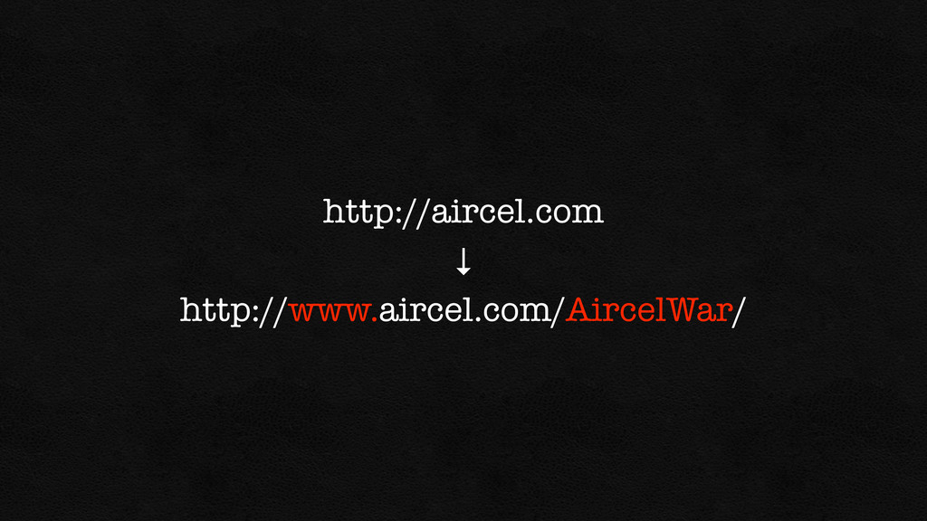http://aircel.com ↓ http://www.aircel.com/Airce...