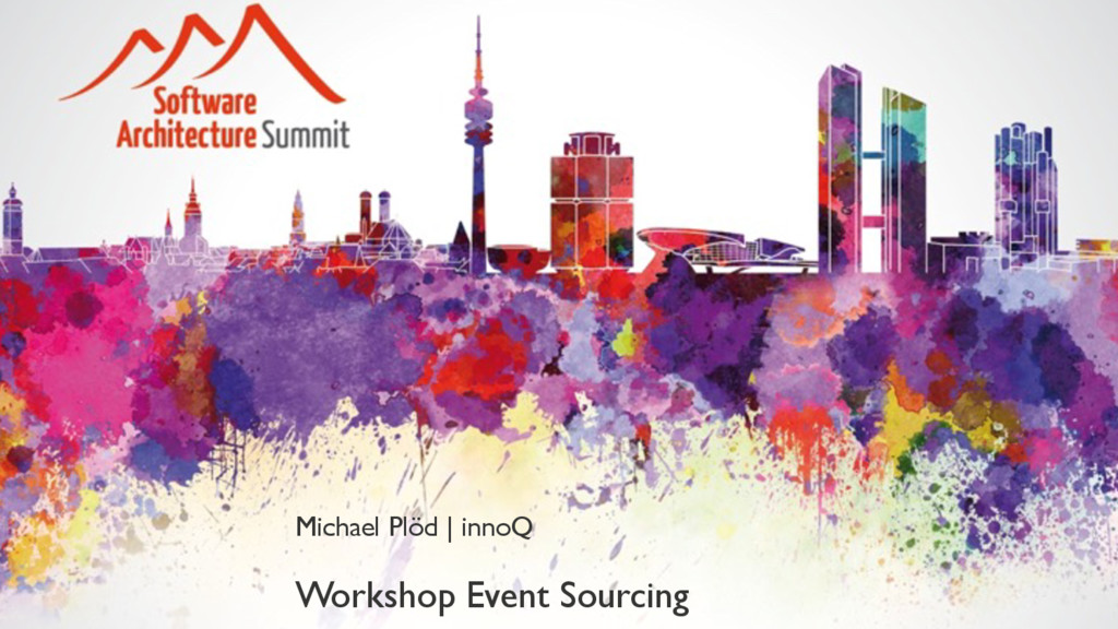 Workshop Event Sourcing Michael Plöd | innoQ