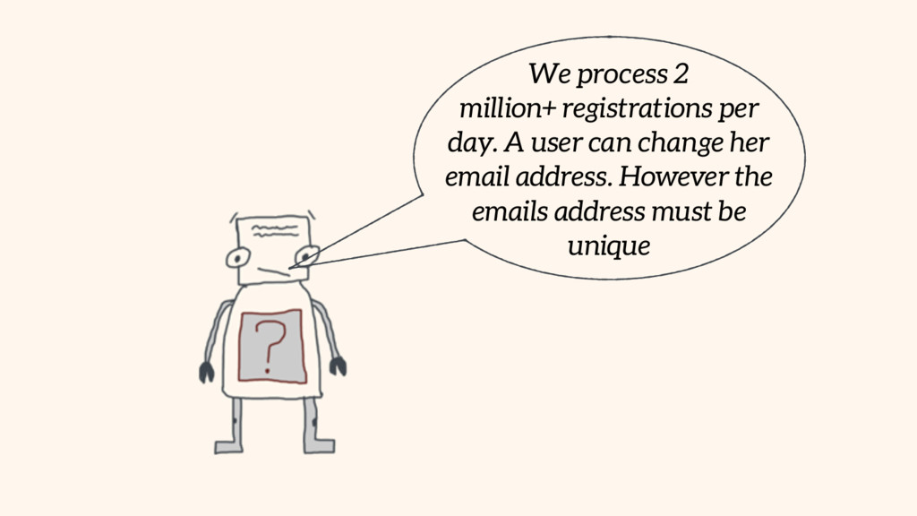 We process 2 million+ registrations per day. A ...