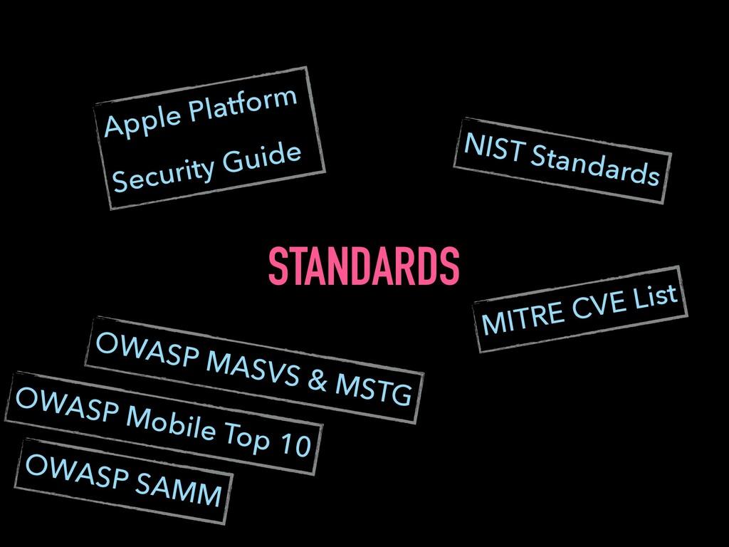 STANDARDS Apple Platform Security Guide OWASP M...