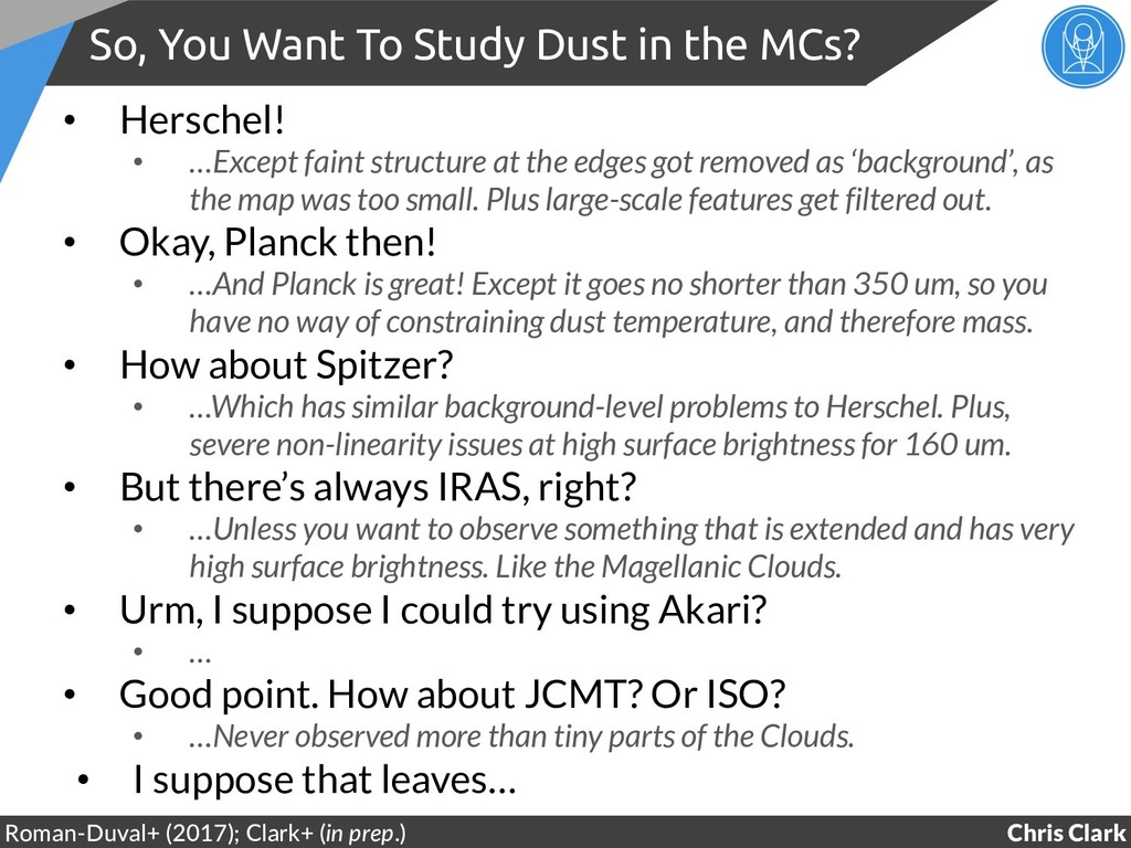 So, You Want To Study Dust in the MCs? Chris Cl...