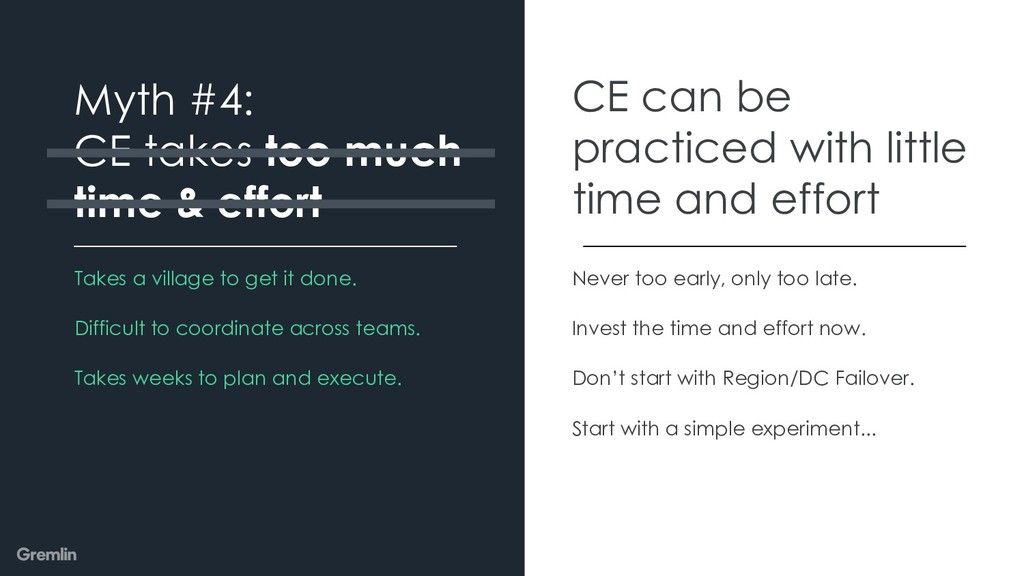 Myth #4: CE takes too much time & effort CE can...