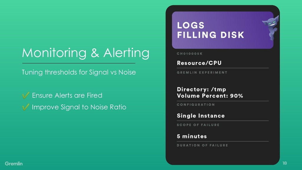 Tuning thresholds for Signal vs Noise ✔ Ensure ...