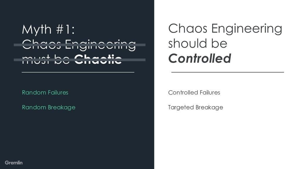 Random Failures Random Breakage Myth #1: Chaos ...