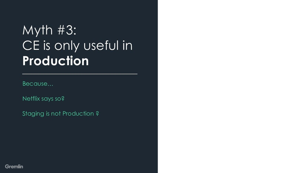 Because… Netflix says so? Staging is not Produc...