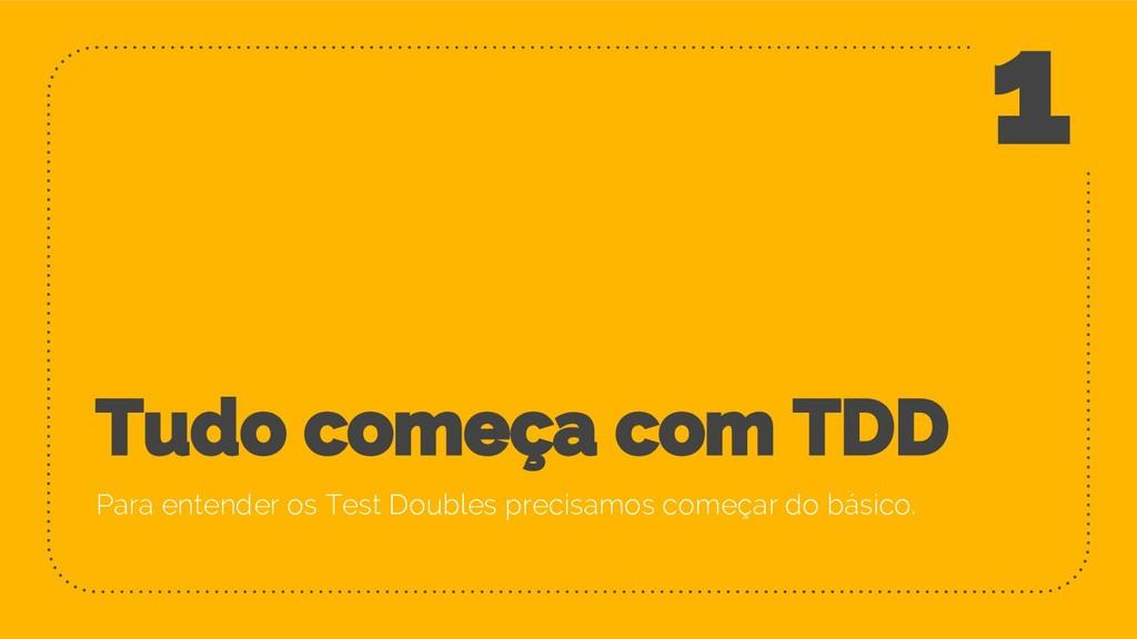 Tudo começa com TDD Para entender os Test Doubl...