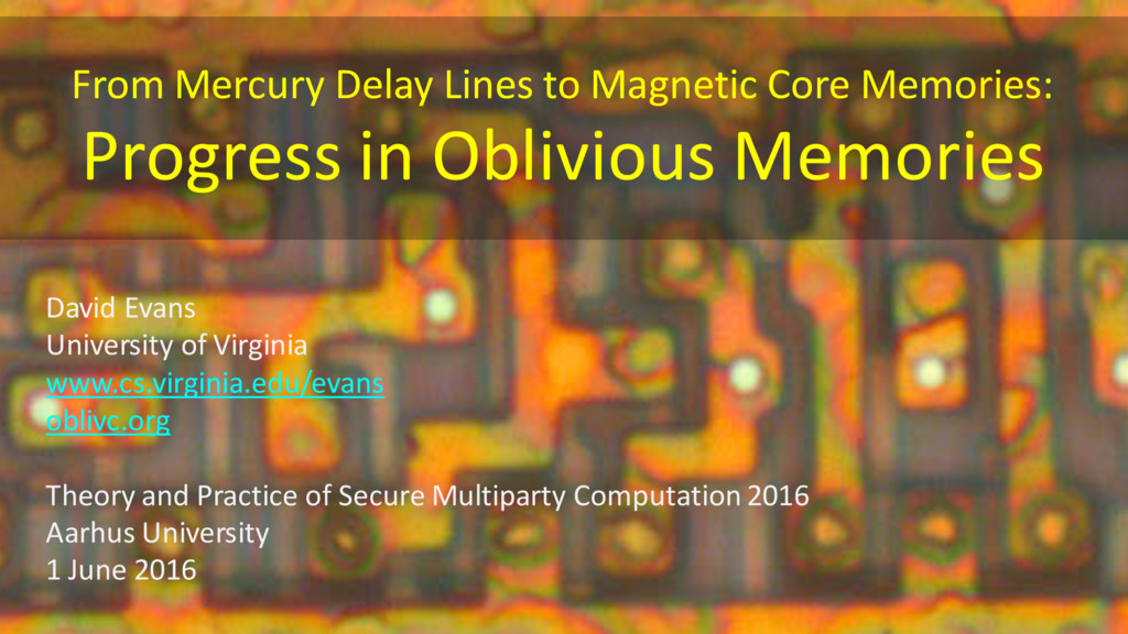 From Mercury Delay Lines to Magnetic Core Memor...