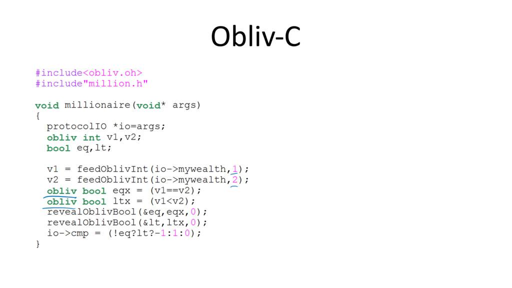 Obliv-C