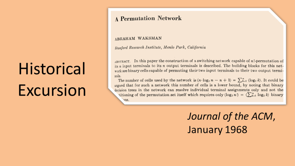 Historical Excursion Journal of the ACM, Januar...