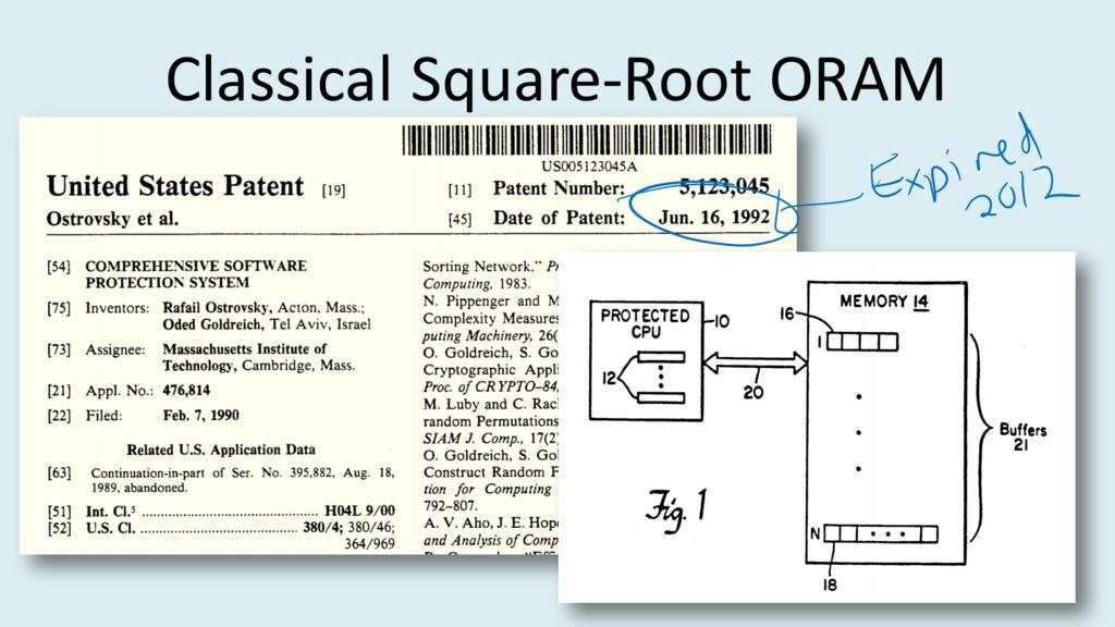 Classical Square-Root ORAM