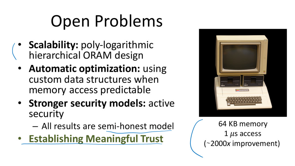 Open Problems • Scalability: poly-logarithmic h...