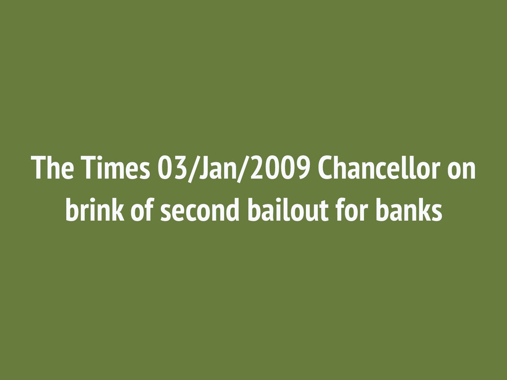 The Times 03/Jan/2009 Chancellor on brink of se...