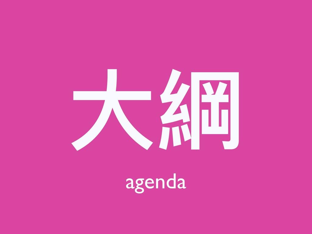 ⼤大綱 agenda