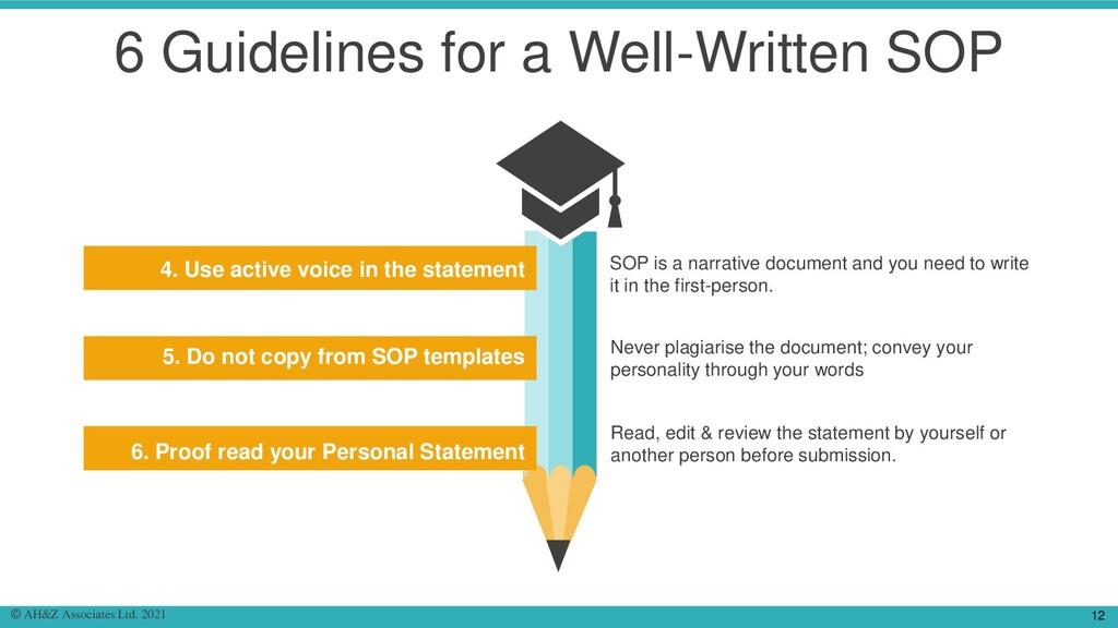 6 Guidelines for a Well-Written SOP Add Content...