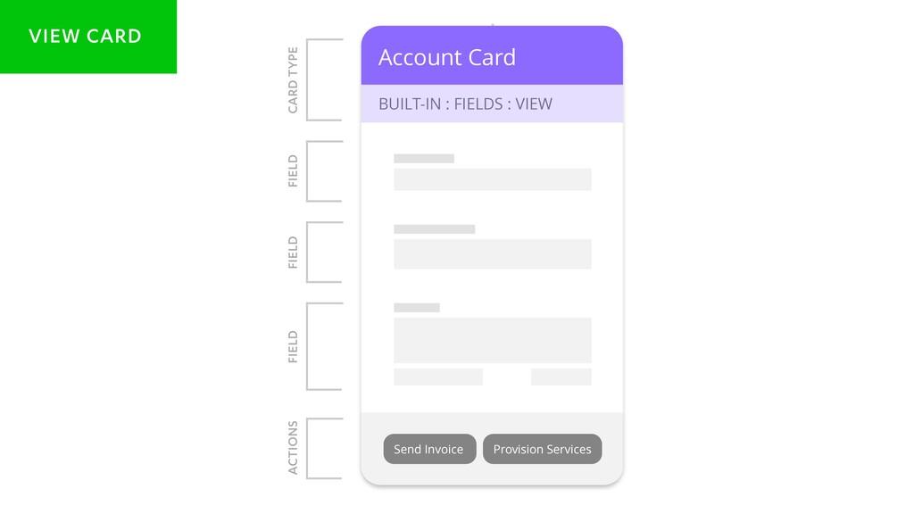 Account Card BUILT-IN : FIELDS : VIEW Accou BUI...