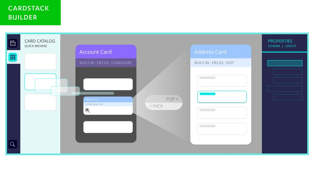 Account Card BUILT-IN : FIELDS : CONFIGURE Addr...