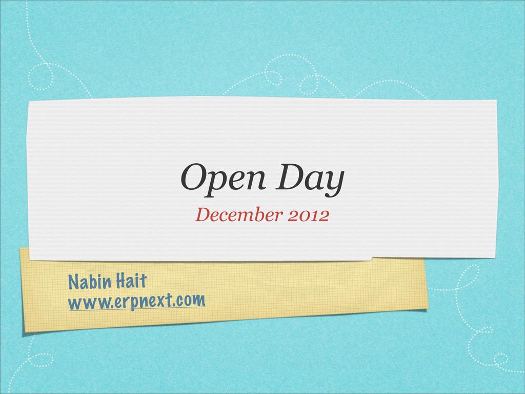 Nabin Hait www.erpnext.com Open Day December 20...