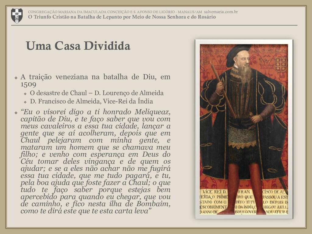  A traição veneziana na batalha de Diu, em 150...