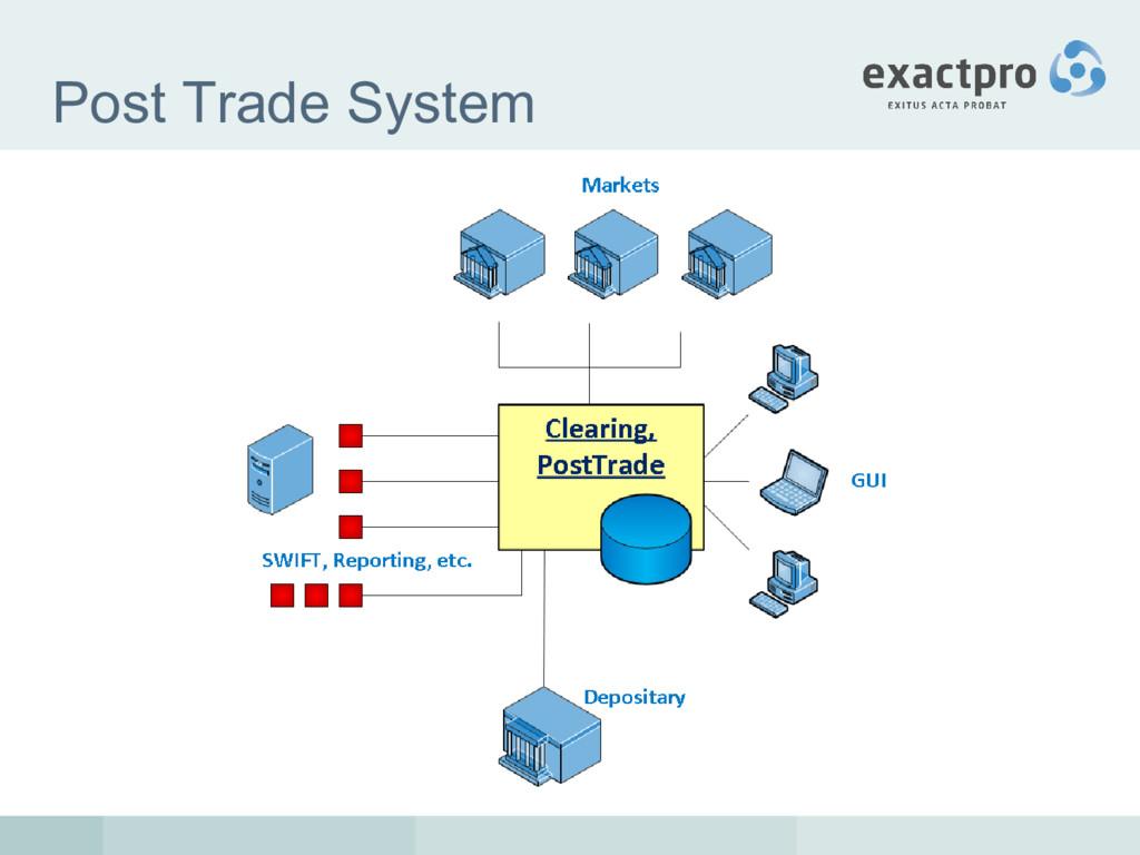 Post Trade System