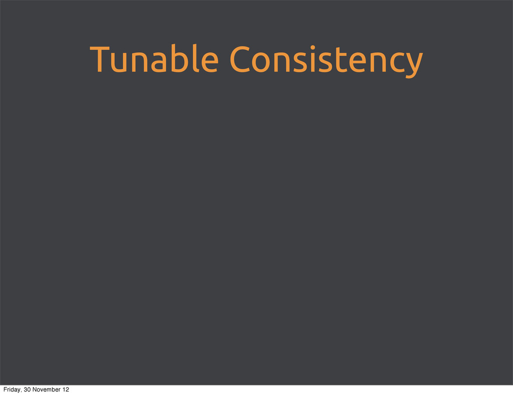 Tunable Consistency Friday, 30 November 12