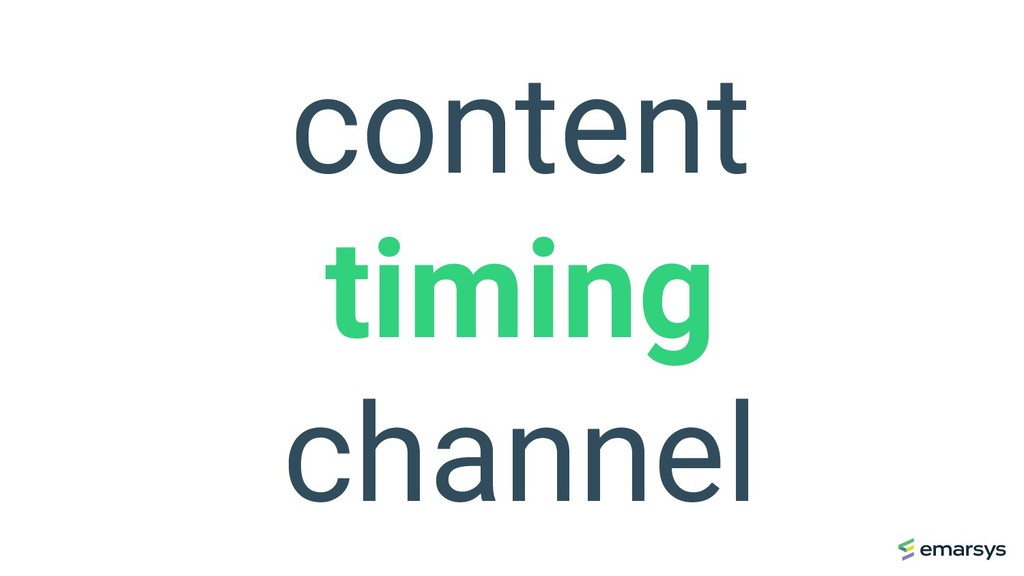 content timing channel