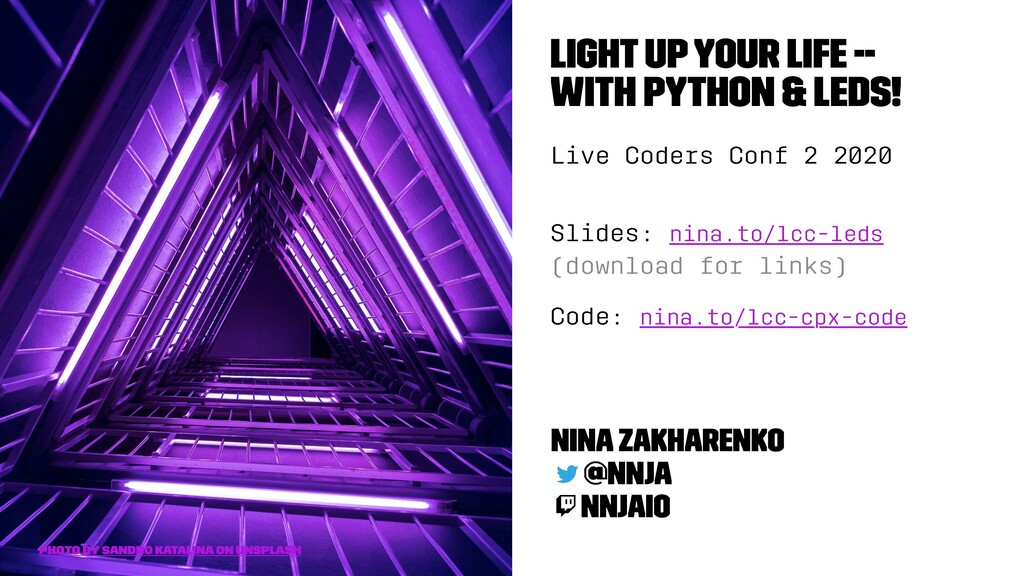 Light Up Your Life -- With Python & LEDs! Live ...