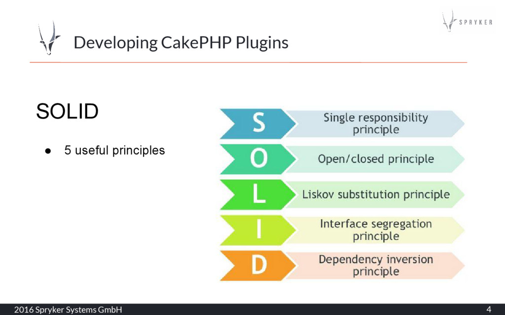 2016 Spryker Systems GmbH 4 Developing CakePHP ...