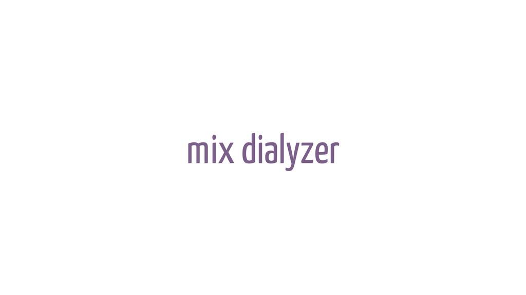 mix dialyzer
