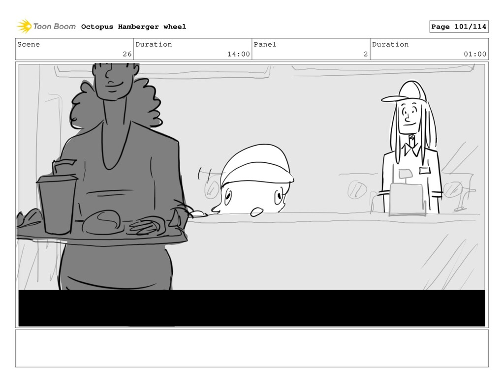 Scene 26 Duration 14:00 Panel 2 Duration 01:00 ...