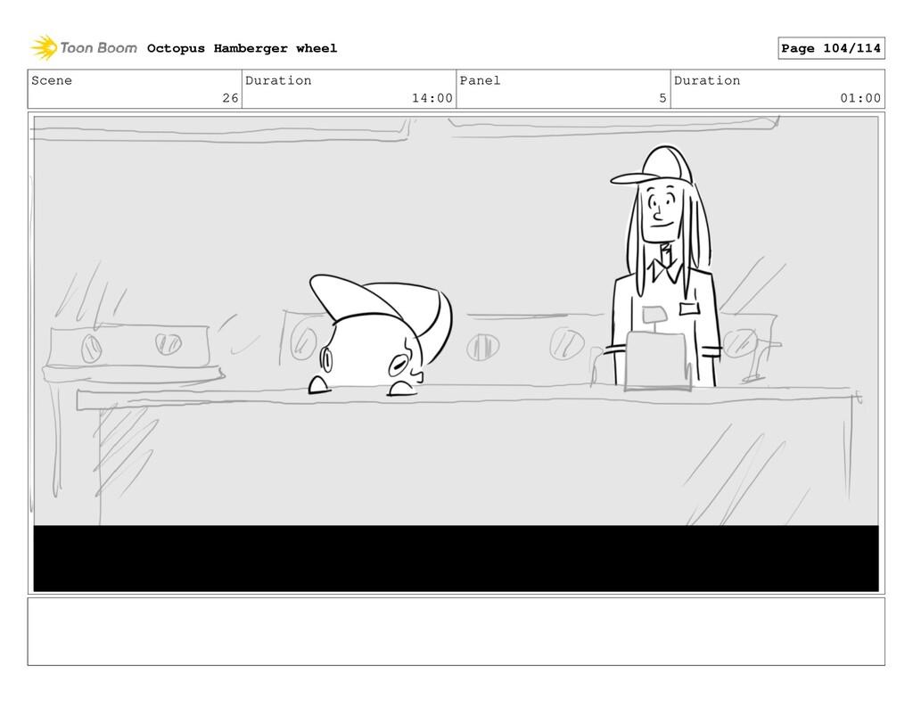 Scene 26 Duration 14:00 Panel 5 Duration 01:00 ...