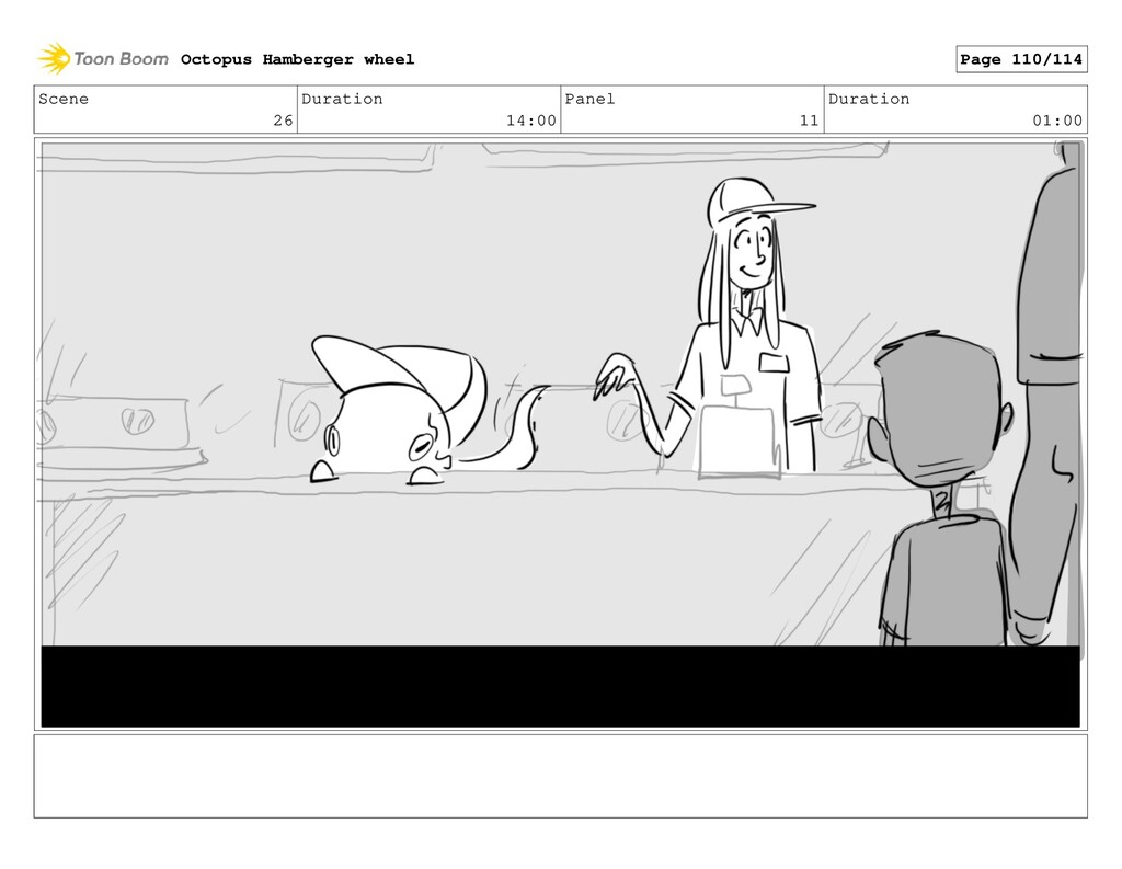 Scene 26 Duration 14:00 Panel 11 Duration 01:00...