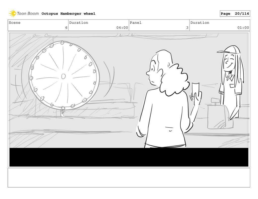 Scene 6 Duration 04:00 Panel 3 Duration 01:00 O...