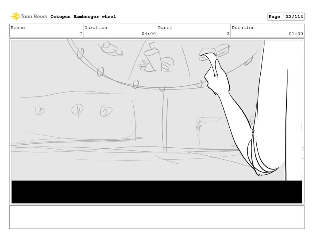 Scene 7 Duration 04:00 Panel 2 Duration 01:00 O...
