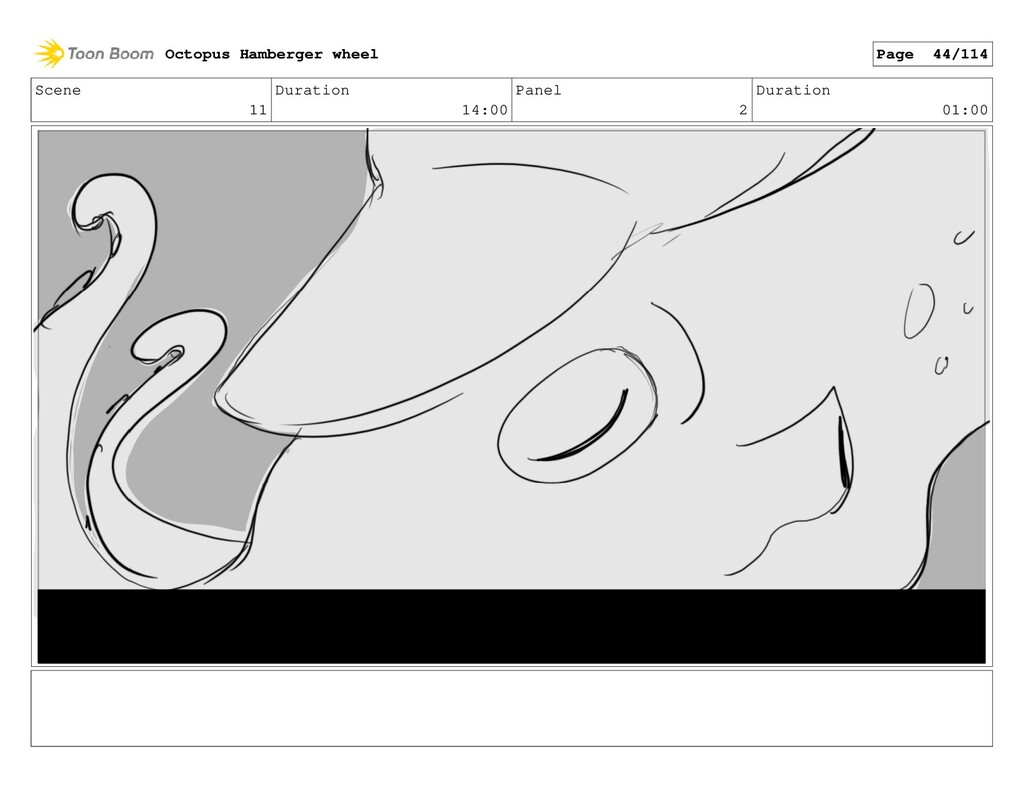 Scene 11 Duration 14:00 Panel 2 Duration 01:00 ...