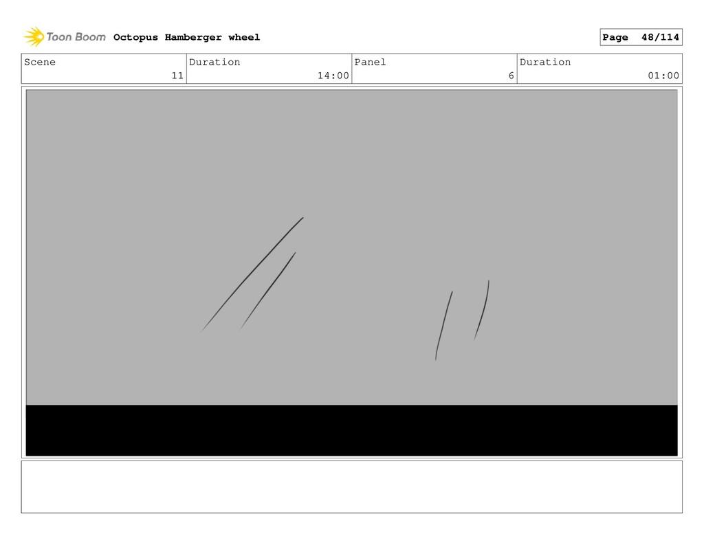 Scene 11 Duration 14:00 Panel 6 Duration 01:00 ...